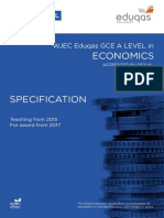 WJEC a-level Economics Specification
