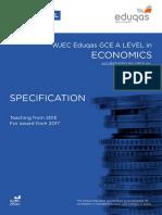 WJEC a-level Economics Specification