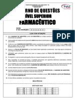 01 Caderno de Questões Nível Superior Farmacêutico Prefeitura Inaz Do Para