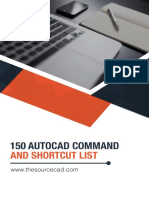 150 AutoCAD Command and Shortcut List