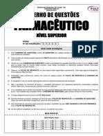Caderno de Questões Nível Superior Farmacêutico
