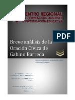 Breve Análisis de La Oración Cívica de Gabino Barreda