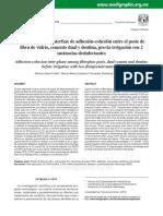 2 Evaluación de La Interfase de Adhesión-cohesión Entre El Poste De