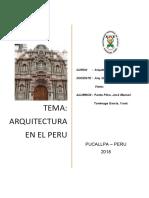 Arquitectura en El Perú