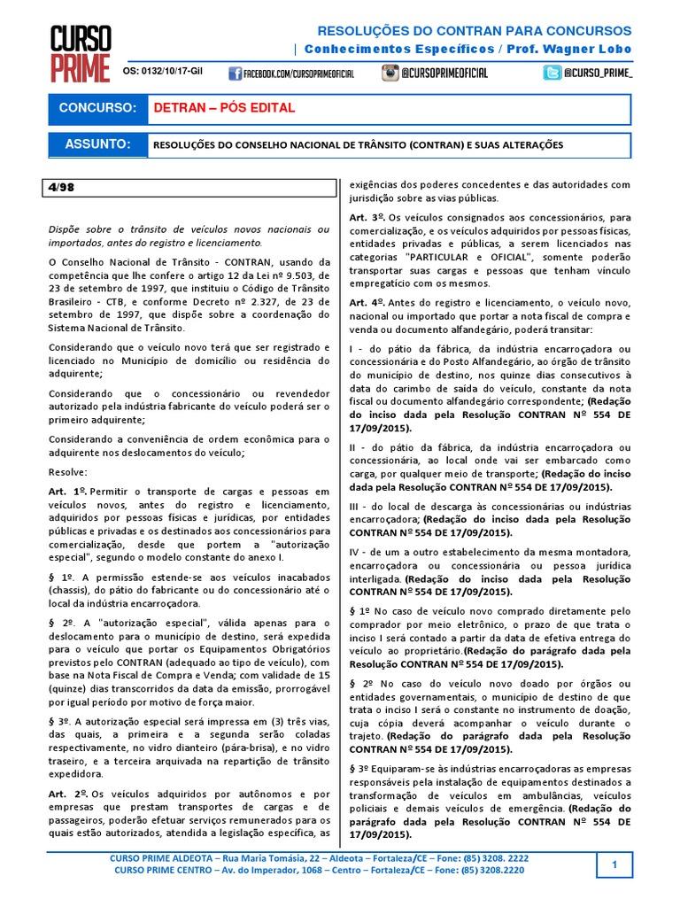 RESOLUÇÕES CONTRAN b83f1a1750