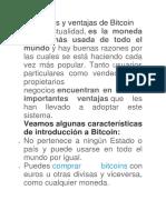 Ventajas de Bitcoin