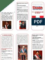 Triptico Presidentes Del Peru