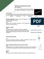 Materiales de Laboratorio Clinico