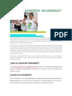 Aprende Saludable Es Una Iniciativa Intersectorial en La Que Participan Los Ministerios de Educación