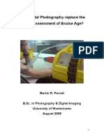 Can Digital Photography replace the Visual Assessment of Bruise Age?