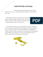 Expansión Del Latín en Europa