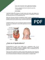 Dieta en Alteracion Tiroidea