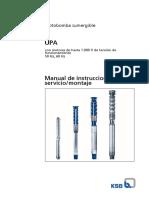 Manual de Instalación y Servicio KSB UPA