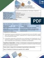 Guía de Actividades y Rúbrica de Evaluación - Fase 2 Planificar El Sistema de Gestión de La Calidad