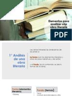 Elementos Para Analizar Una Obra Literaria