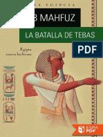 La Batalla de Tebas - Naguib Mahfuz