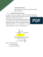 El Libro Unidad IV Distancia Entre Puntos, Planos y Rectas