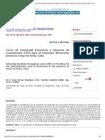 Curva de intensidad frecuencia y duración de inundaciones (IFD) para el municipio Venezuela, provincia Ciego de Ávila, Cuba.pdf