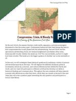 unit plan  coming of the civil war