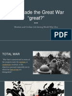 what made the great war great
