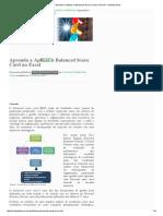 Aprenda a Aplicar o Balanced Score Card No Excel – Scientia Arca