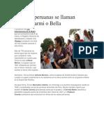 Cuántas Peruanas Se Llaman Mujer