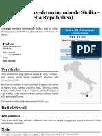 Collegio Elettorale Uninominale Sicilia
