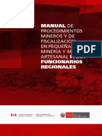 Manual Pequeña Minería y Minería Artesanal Para Funcionarios Regionales