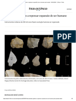 Descobertas Ajudam a Repensar Expansão Do Ser Humano Pelo Mundo - 31-01-2018 - Ciência - Folha
