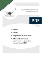 Reglamento de evaluación y Normas de convivencia para centros