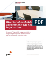 4 L Pwc Director Shareholder Engagement the New Imperative