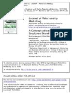 Sandra Jeanquart Miles a Conceptualization of the Employee Branding Process