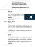 Expecificaciones Tecnicas de Agua de Erene