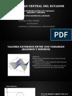 Valores Extremos y Multiplicadores de Lagrange