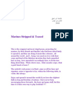 Marines Stripped  ِAnd Teased