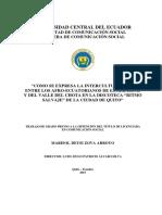 Como Se Expresa La Interculturalidad Entre Los Afroecuatorianos de Esmeraldas y Del Valle Del Chota en La Discoteca Ritmo Selvaje de Quito