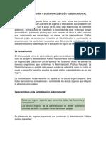 La Centralización y Descentralización Gubernamental