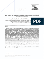 The Effect of Storage at Various Temperatures on Blood Alcohol Concentration