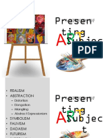 Methods of Presentation of Subject