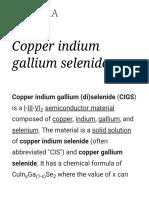 Copper Indium Gallium Selenide