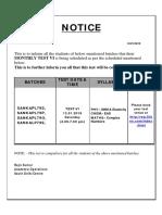 Notice Test 2