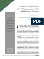 Competencias académicas de los tutores de posgrado en ciencias de la administración de la UNAM
