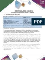 Syllabus Del Curso Filosofía Antigua y Medieval