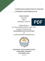 Employee Satisfaction in TOOLFAB Engineering I
