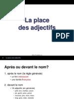 3 La Place Des Adjectifs