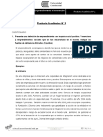 Enunciado Producto Académico 03 Iniciativa Empresarial