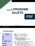 2 Les Pronoms Sujets