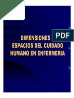 Dimensiones y Espacios Del Cuidado (1)