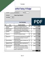 training budget - sharepoint training 101