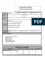 Plan de Evaluacion Matematicas 1AB Bloque III Cuarto Periodo
